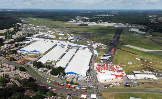 Le salon aéronautique de Farnborough se déroule du 16 au 22 juillet © Farnborough Airshow