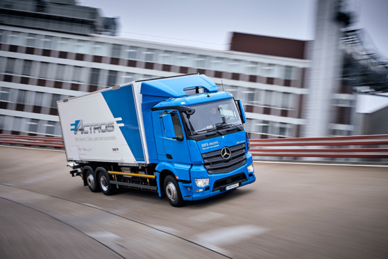 La version électrique de l'Actros © Daimler Trucks
