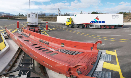 Chantier Lorry-Rail au Boulou © Lorry-Rail