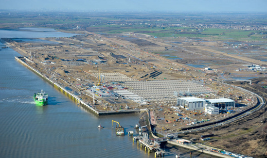 La construction du London Gateway en février © DP World