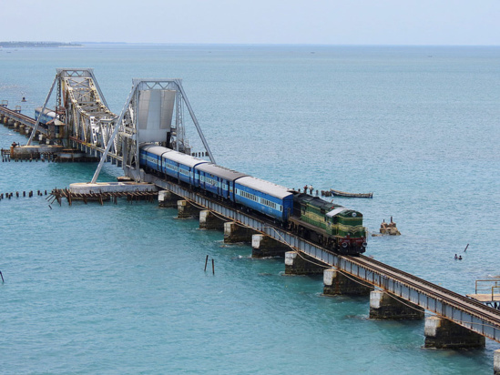Le Pamban Bridge, en Inde © Indian Railways