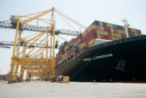 "Le ""MSC London"" a port King Abdullah © King Abdullah Port"