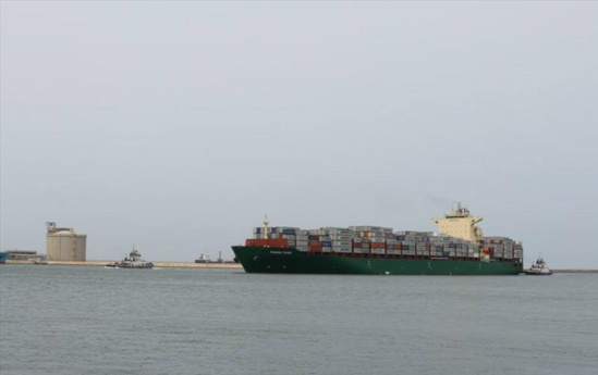 "Le ""Maersk Tigris"" a été intercepté le 28 avril par l'Iran © Damietta Port Authority"