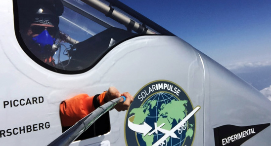 Solar Impluse vole à une vitesse maximum de 90 km/h à basse altitude © Solar Impulse