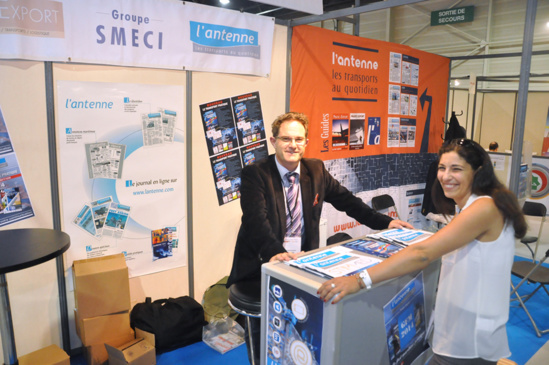 "Le stand de ""L'Antenne"" lors du salon StimMed 2014 © Paul Williams"