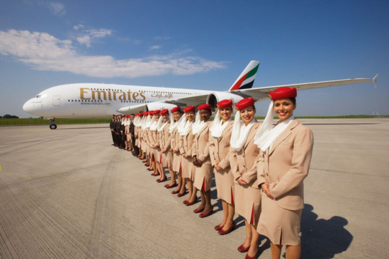 Emirates dessert 147 destinations dans le monde © Emirates