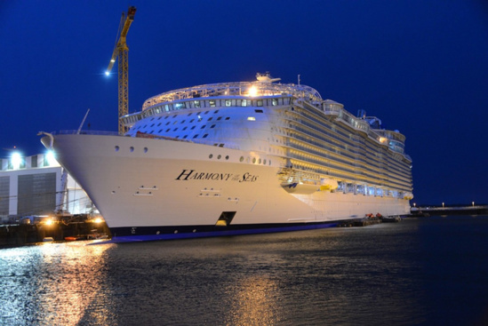 "L'""Harmony of the Seas"" sera de retour à Saint-Nazaire en principe dimanche matin ©  Royal Carribean International"