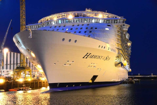 "L'""Harmony of the Seas"" sera livré à Royal Caribbean International le 12 mai © Royal Caribbean International"
