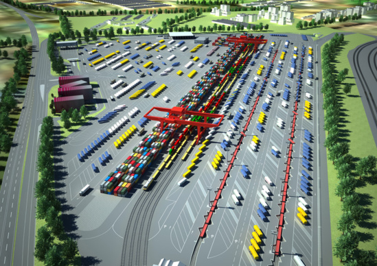 La future configuration du terminal rail-route de Bettembourg © CFL