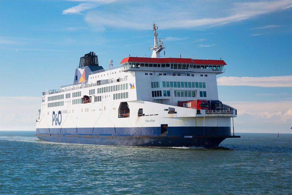 """Le Pride of Kent"" de P&O Ferries © Port de Boulogne-Calais"