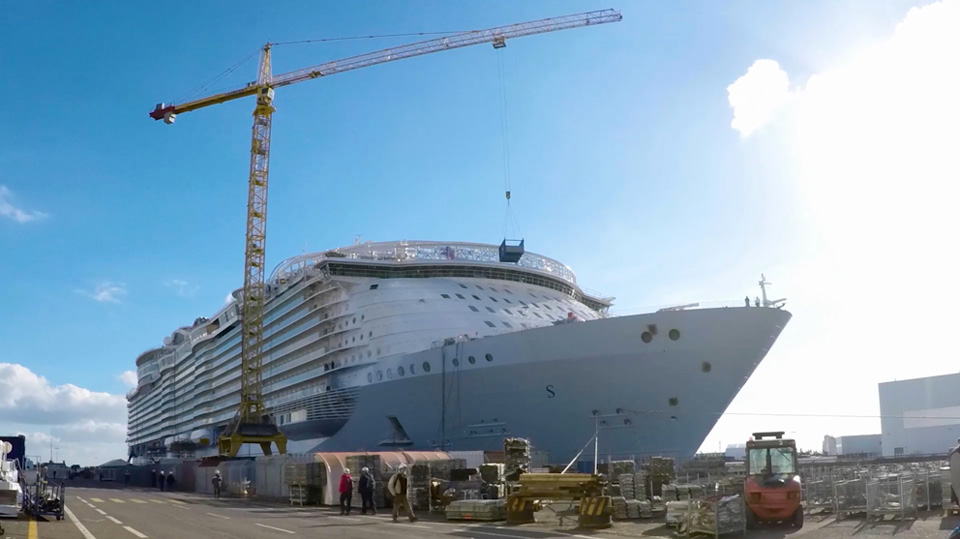 "Le ""Symphony of the Seas"" pourrait gagner le titre de plus grand paquebot du monde © Royal Caribbean"