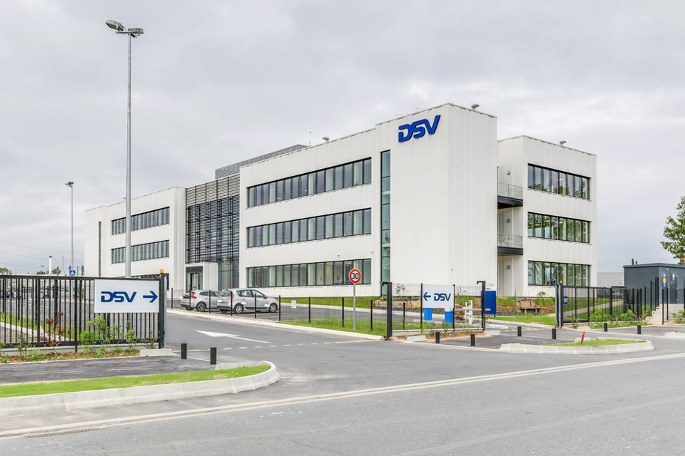 Nouveau siège de DSV Road et Air and Sea France sur le port de Gennevilliers © DSV