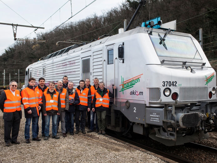 Projet Marathon : le train de fret le plus long d'Europe © SNCF
